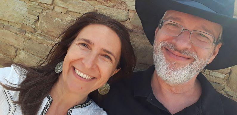 Romana and John in Chaco Canyon, New Mexico